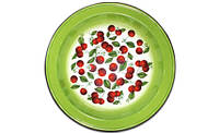 Блюдо эмалированное 4,5 л. Вишневый сад