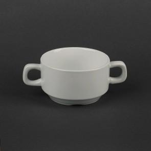 Бульонная фарфоровая чашка с ручками Helios 250 мл (HR1551)