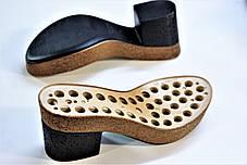 Подошва для обуви женская C 552 чорна-пробка р.36-38,40-41, фото 2