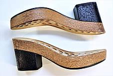 Подошва для обуви женская C 552 чорна-пробка р.36-38,40-41, фото 3