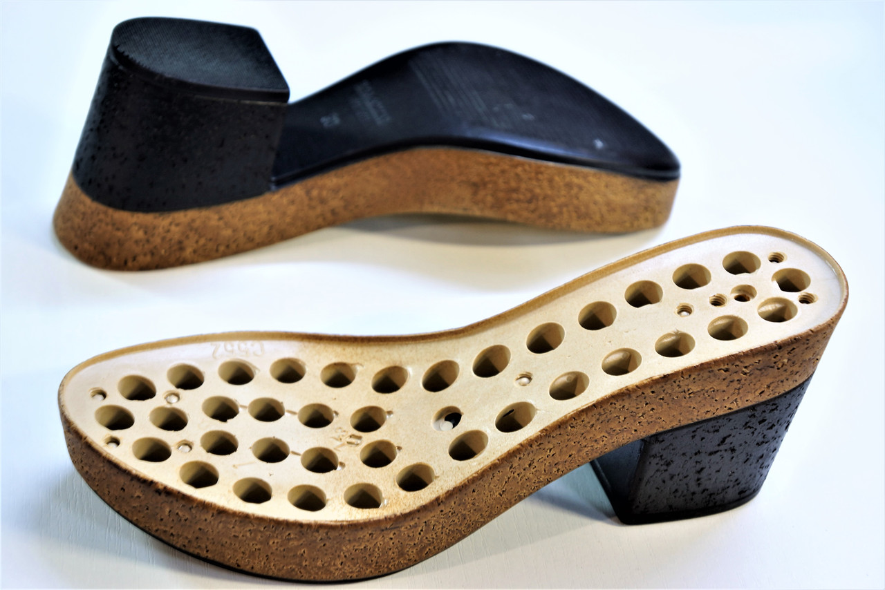 Подошва для обуви женская C 552 чорна-пробка р.36-38,40-41