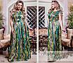 Платье длинное короткий рукав королевский атлас 46-48,50-52,54-56,58-60, фото 2