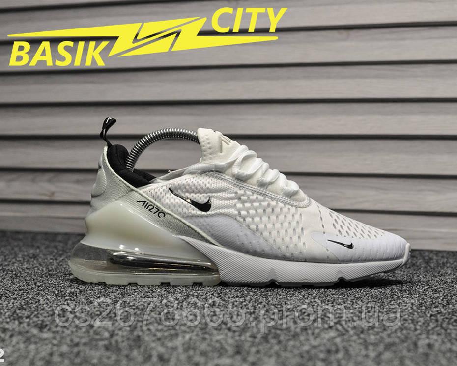 Мужские кроссовки Nike Air Max 270 White Black 44 размер - 28см
