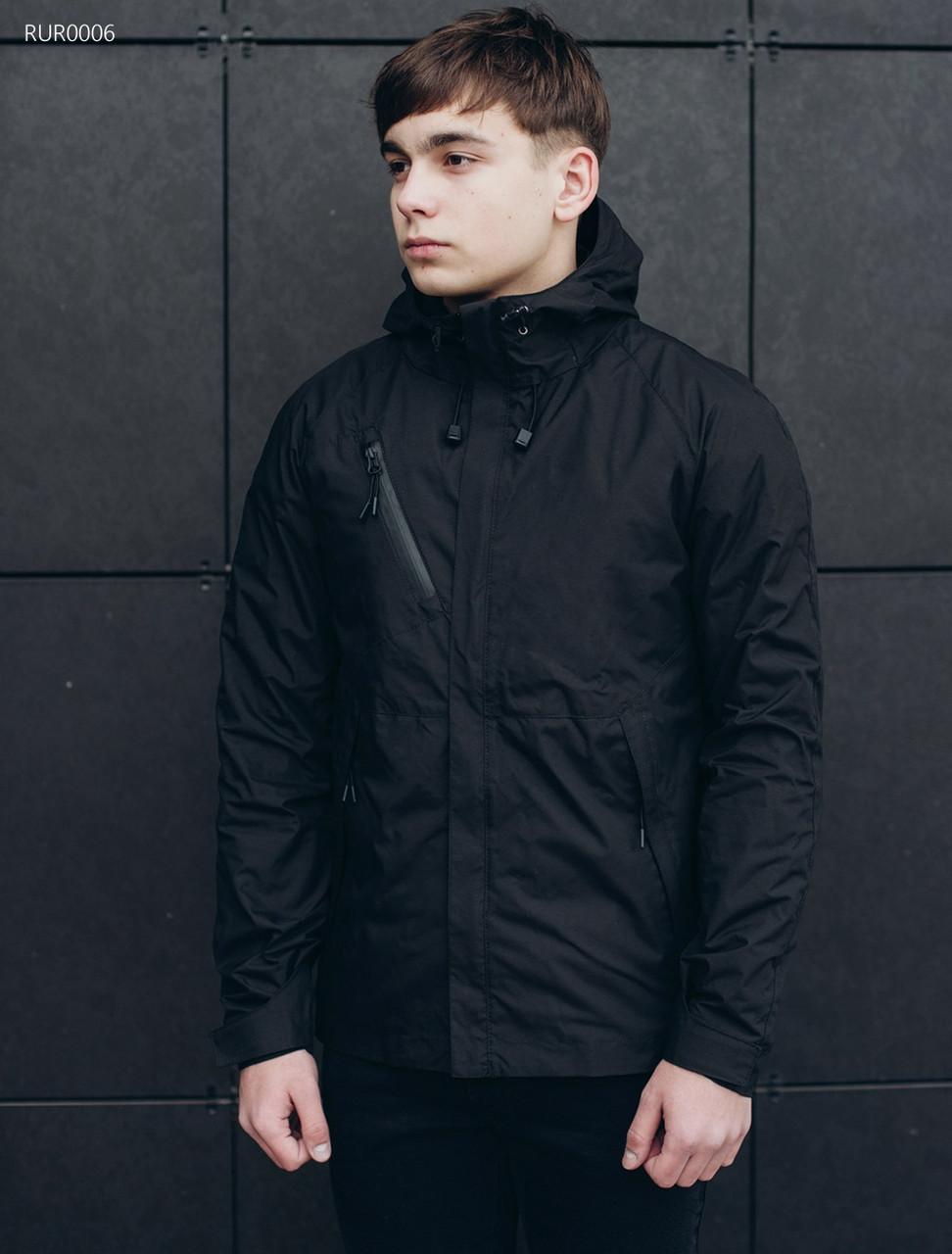 5f5db579e0f Мужская куртка черная (стаф) Staff windstorm black RUR0006 в наличии р. ХС -