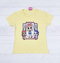 Детская футболка на девочку 3,4,5,6,7 лет