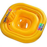 Круг-плотик 56587 желтый, 79-79см, в кор-ке, 26-20-6см