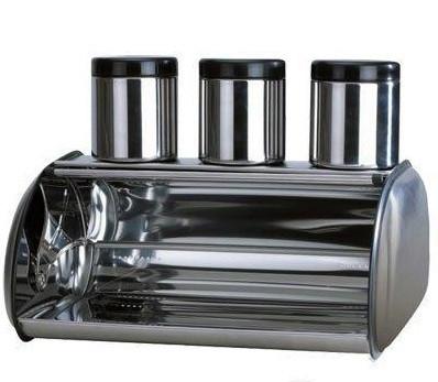 Хлебница Bohmann BH-7231 + 3 банки емкости для сыпучих продуктов набор для хранения