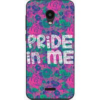 Чехол силиконовый для Meizu C9 с рисунком Pride in me