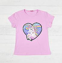 Детская футболка на девочку 3,4,7 лет