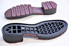Подошва для обуви женская Терра-4 чорна-бордо р,36-41, фото 2