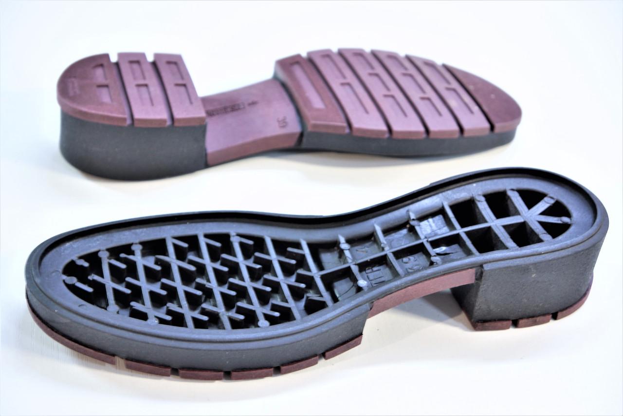 Подошва для обуви женская Терра-4 чорна-бордо р,36-41