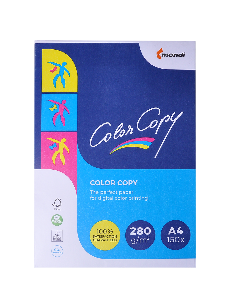 Бумага для цветной печати А4 280г/м2 150 листов