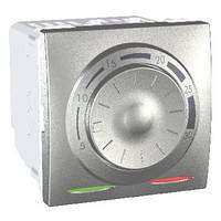 Термостат кондиционирование и отопление 8А +5...30°С Алюминий Schneider Electric Unica (MGU3.501.30)