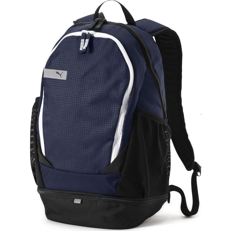 Рюкзак спортивный Puma Vibe Peacoat 075491 02 (темно-синий, не промокаемое днище, 20 литров, логотип пума)