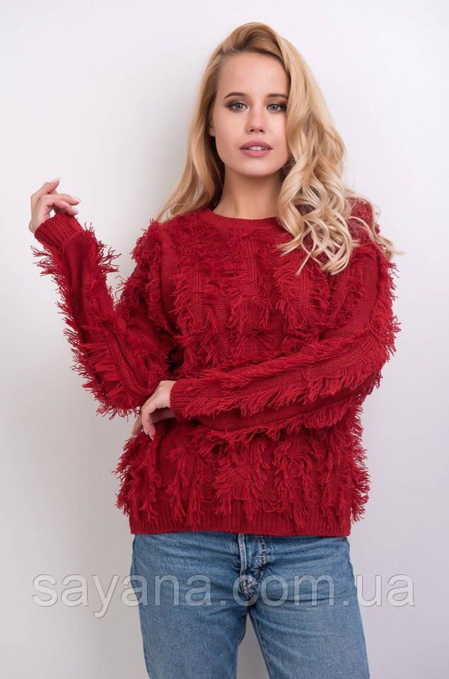 женский свитер с декором