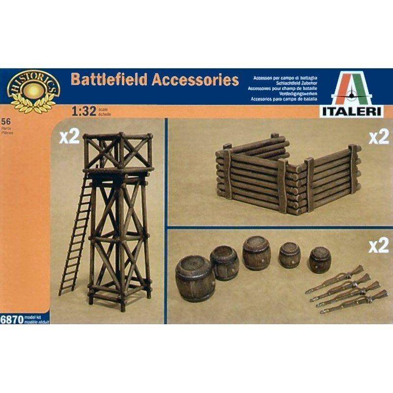 Набор аксессуаров Battlefield. 1/32 ITALERI 6870