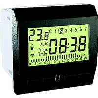 Цифровой программируемый термостат 8А +5-35°С Графит Schneider Electric Unica (MGU3.505.12)