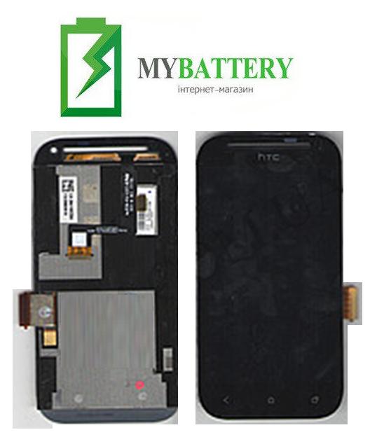 Дисплей (LCD) HTC T326e Desire SV с сенсором чёрный + рамка