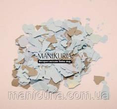 Моро-мраморные кусочки для дизайна ногтей, серо- голубой