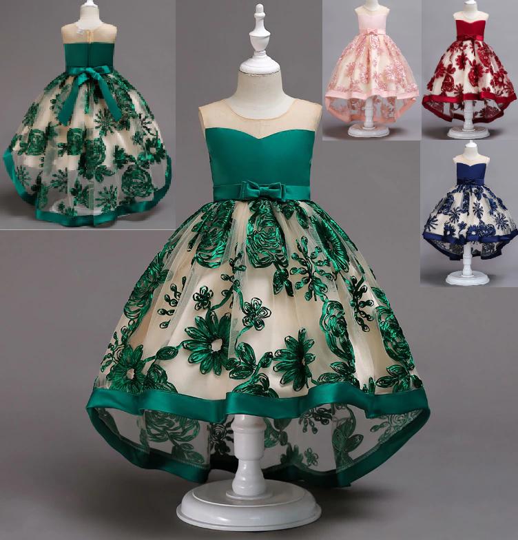 Платье зеленое бальное выпускное нарядное для девочки в садик или школу