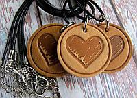 Кулон из натуральной кожи Сердце, фото 1