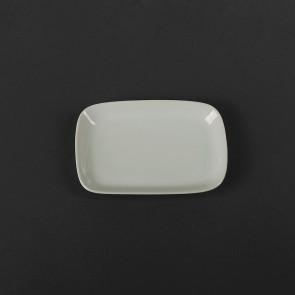 Блюдце белое прямоугольное HLS 85х130 мм (HR1512)