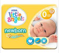 Подгузники little angels newborn размер 0 для новорожденных 1-2,5 кг