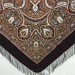 Испанский 710-17, павлопосадский платок шерстяной  с шелковой бахромой, фото 4