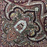 Испанский 710-17, павлопосадский платок шерстяной  с шелковой бахромой, фото 5