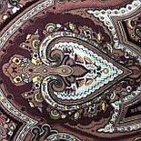 Испанский 710-17, павлопосадский платок шерстяной  с шелковой бахромой, фото 7