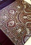 Испанский 710-17, павлопосадский платок шерстяной  с шелковой бахромой, фото 8