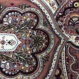 Испанский 710-17, павлопосадский платок шерстяной  с шелковой бахромой, фото 9