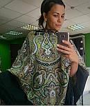 Испанский 710-10, павлопосадский платок шерстяной  с шелковой бахромой, фото 10