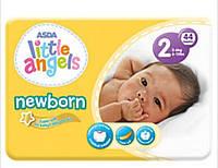 Детские подгузники Little Angels размер 2  3-6 кг 44 штуки newborn