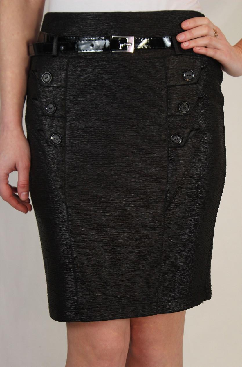 Нарядная черная юбка 42-48 р