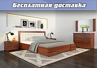 Кровать деревянная с подъемным механизмом Регина Люкс из натурального дерева