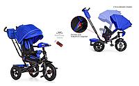 Дитячий велосипед синій коляска Турбо Трайк M 4060-10 з USB+ пульт, поворот - нахил сидіння, фото 1