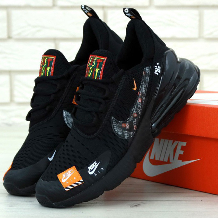 Nike Air Max 270 Black Just Do It (в стиле nike)