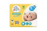 Детские подгузники Little Angels размер 1 для новорожденных 2-5 кг 24 штуки