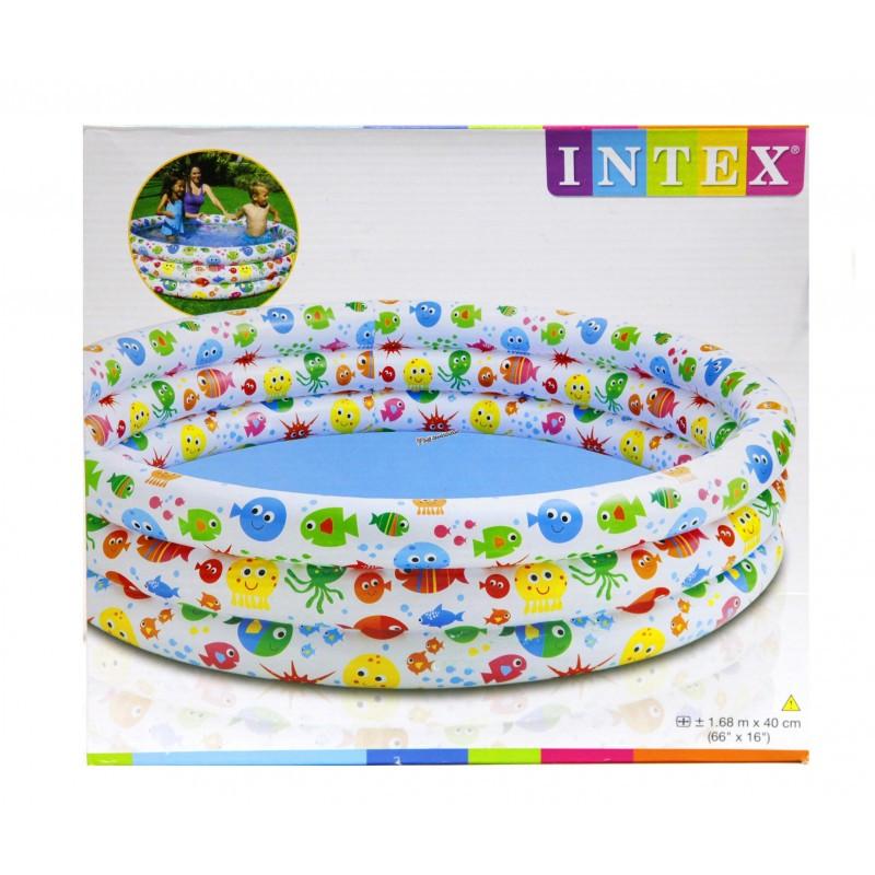"""Детский надувной бассейн """"Конфетти"""" 56440 168х41см"""