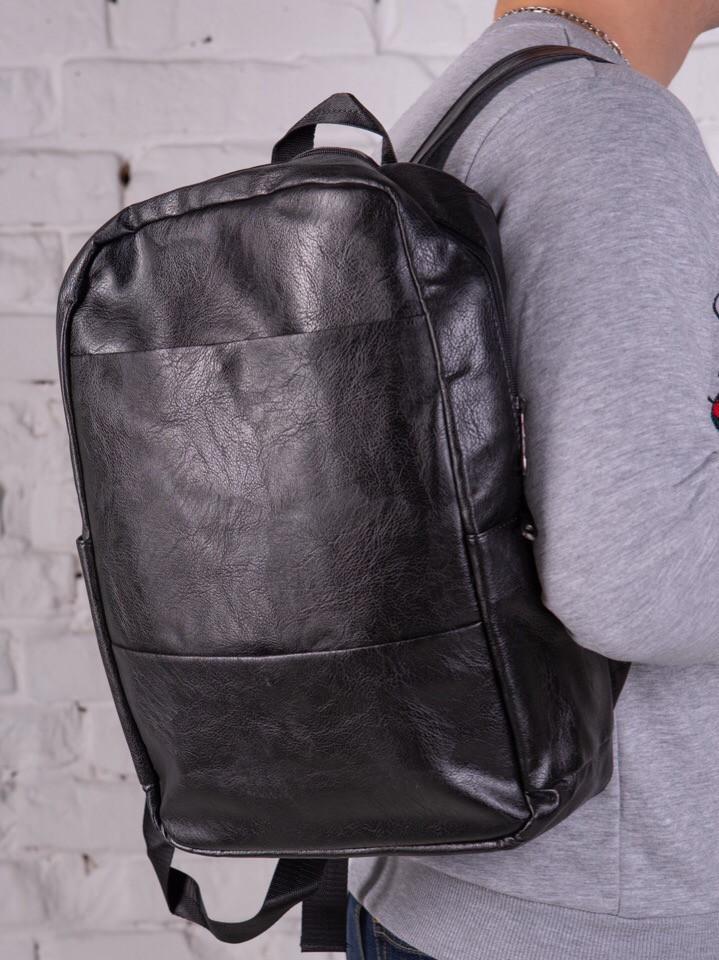 6be1f9e162b1 Премиум мужской кожаный рюкзак - сумка черный, без бренда - OneTrend -  Трендовые товары -