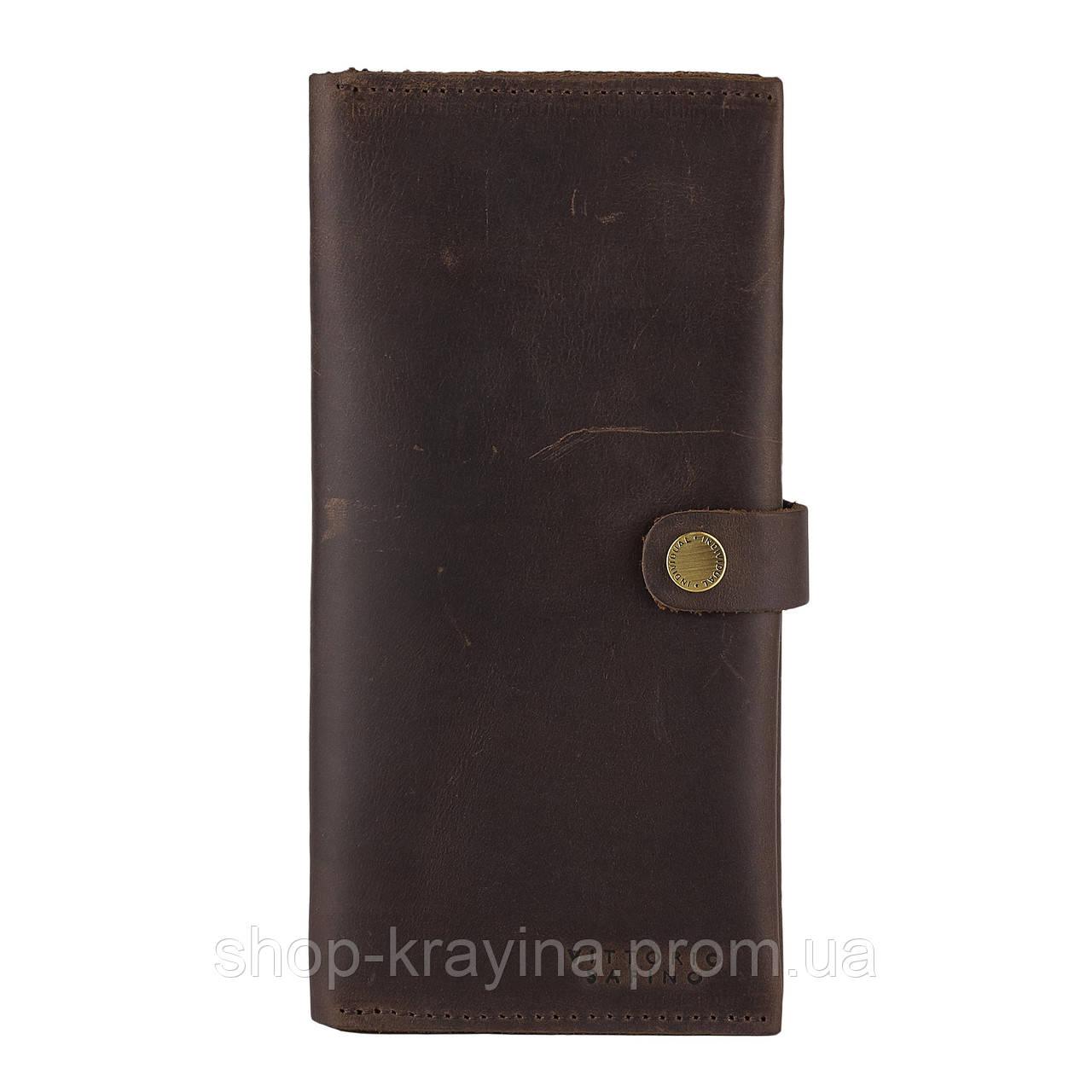 Портмоне из натуральной винтажной кожи VS9 Черный