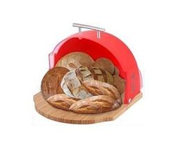 Хлібниця невелика кругла дерево+пластик Bohmann BH 02-511 стильний дизайн