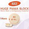 Блоки (диски) для CAD / CAM з поліметилметакрилату (PMMA) колір А3 висота заготовки 14 мм