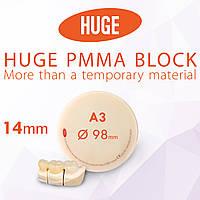 Блоки (диски) для CAD / CAM з поліметилметакрилату (PMMA) колір А3 висота заготовки 14 мм , фото 1