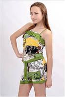 Комбинезон летний трикотажный для девочки W 35А зеленый
