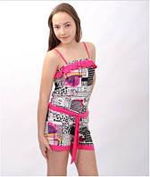 Комбинезон летний трикотажный для девочки W 35А розовый