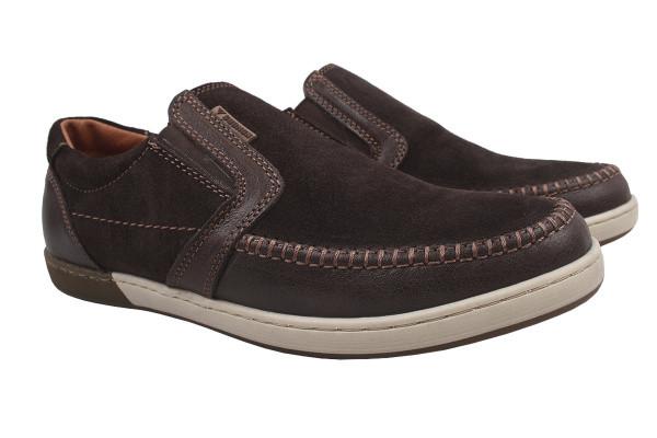 Туфли комфорт Konors натуральная замша, цвет коричневый