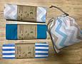 Экомешок из ткани, набор из 3-х шт. Бязь, самозатягивающиеся., фото 4