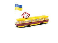 Модель Technopark Трамвай Big со светом и звуком на украинском языке (SB-17-18WB), фото 1